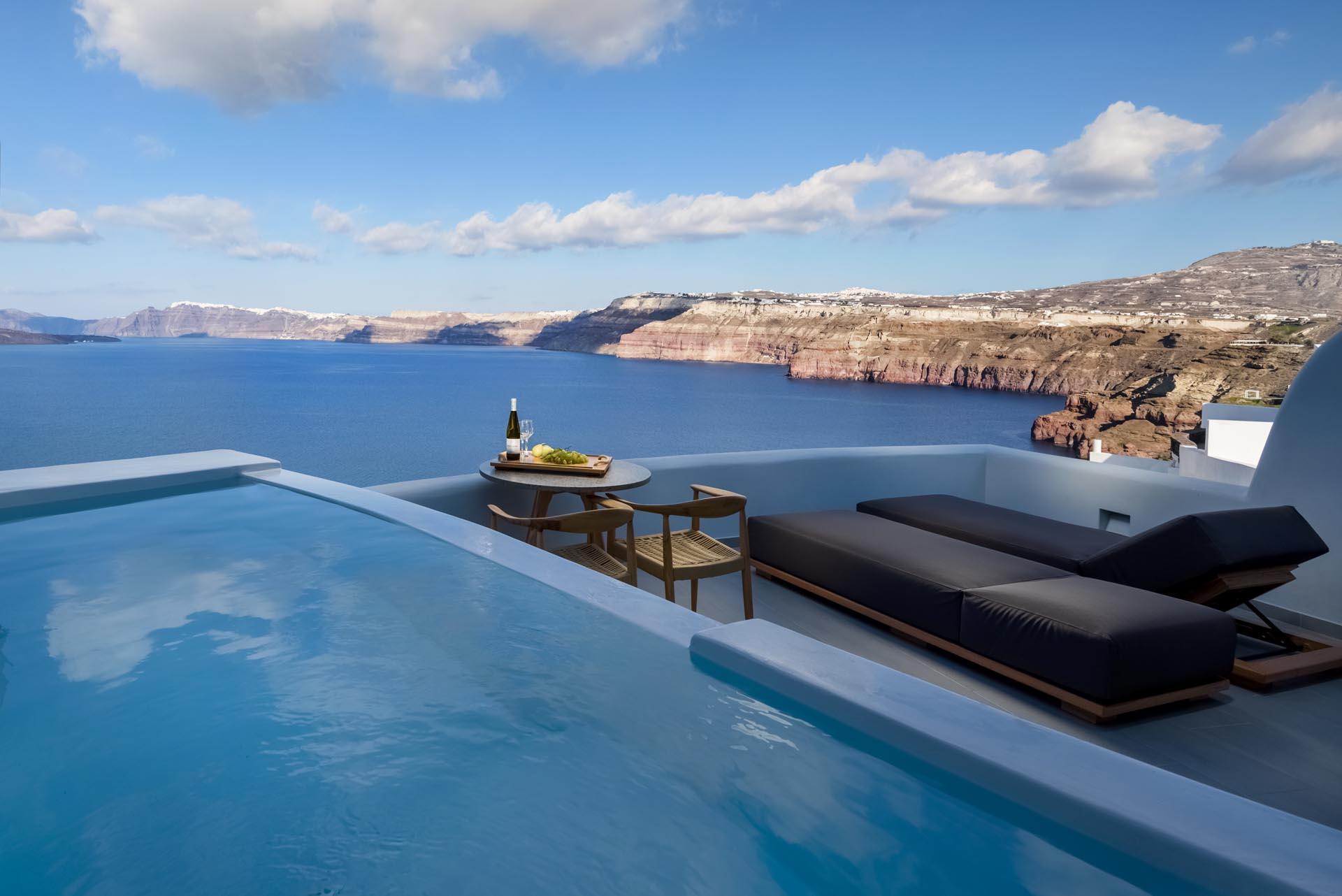 Neptune Luxury Suites in Akrotiri of Santorini island